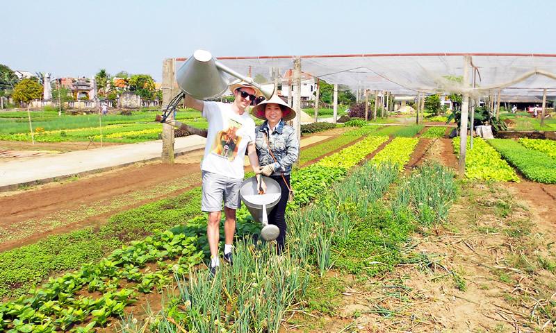 Farmer tour vegetable village