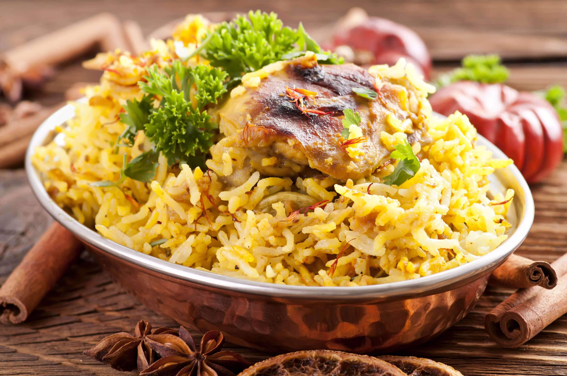 Indian Food Chicken Biryani