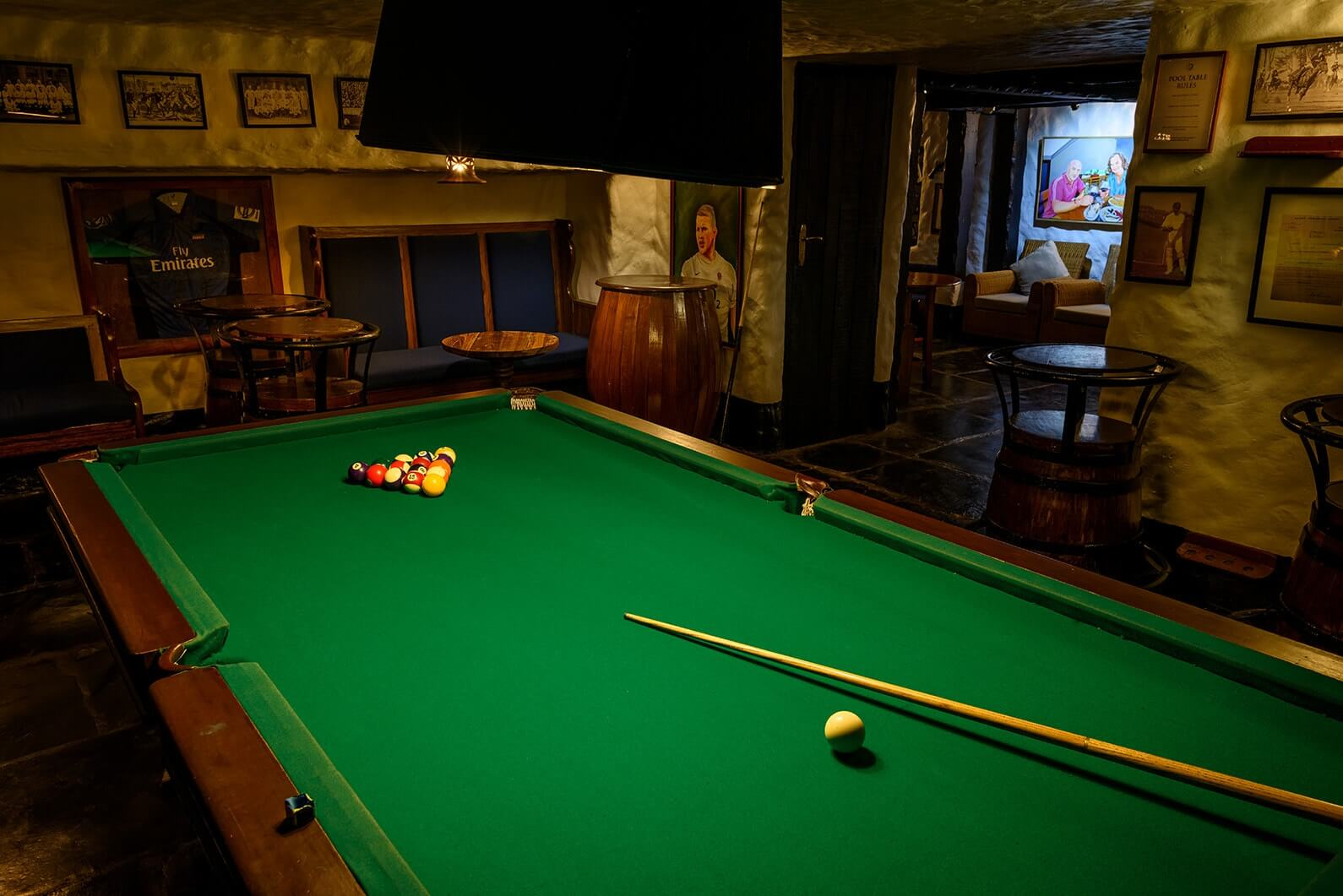 Pool Table at Attwood's Pub