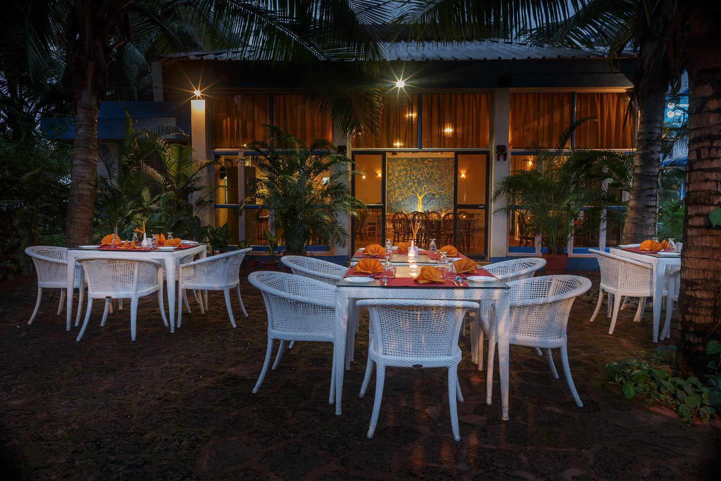 Karma Royal Palms Benaulim Brasserie Outdoor Seating
