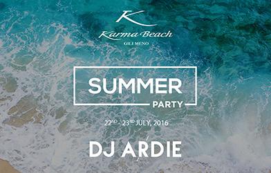 clear crystal sea Karma Beach Summer party