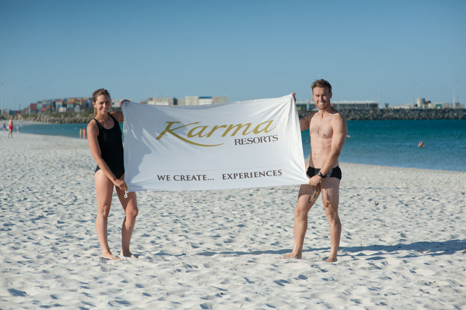 enthusiastic swimmers comprises of Karma Group members and staff 1
