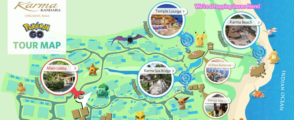 Karma Kandara POKEMON Tour map