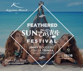 karma beach bali's feathered sun easter festival