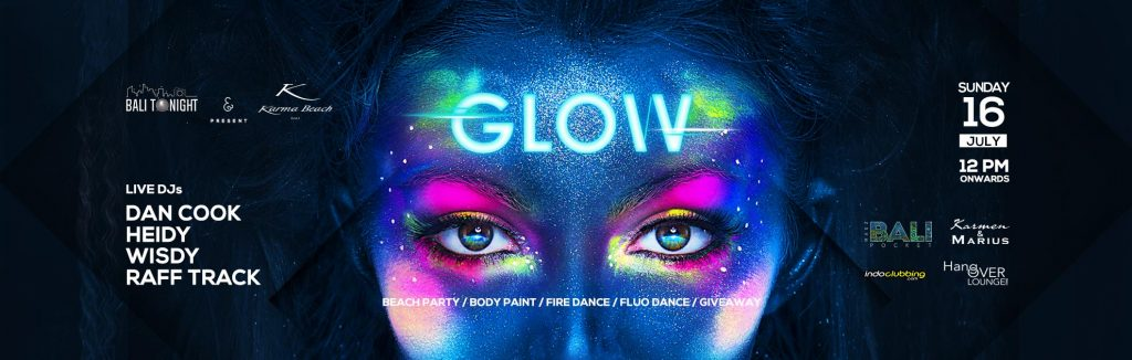 karma beach news event glow party july