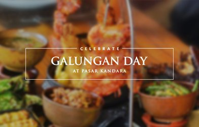 Galungan Day for Hindus at Pasar kandara