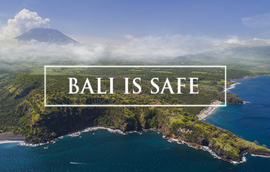 Bali is safe, carousel banner