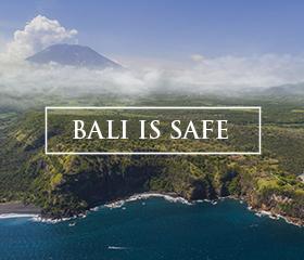 Bali is safe, Banner